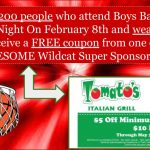 Boys Senior Night Red Out!  Friday Feb 8th