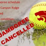 Softball Jamboree Cancelled