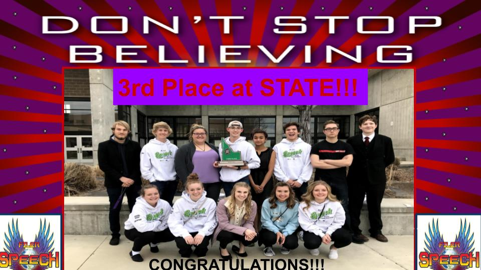 3rd At State!