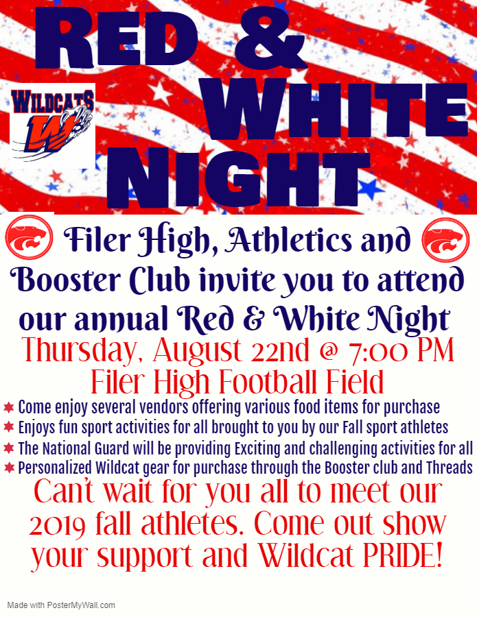 Red and White Night