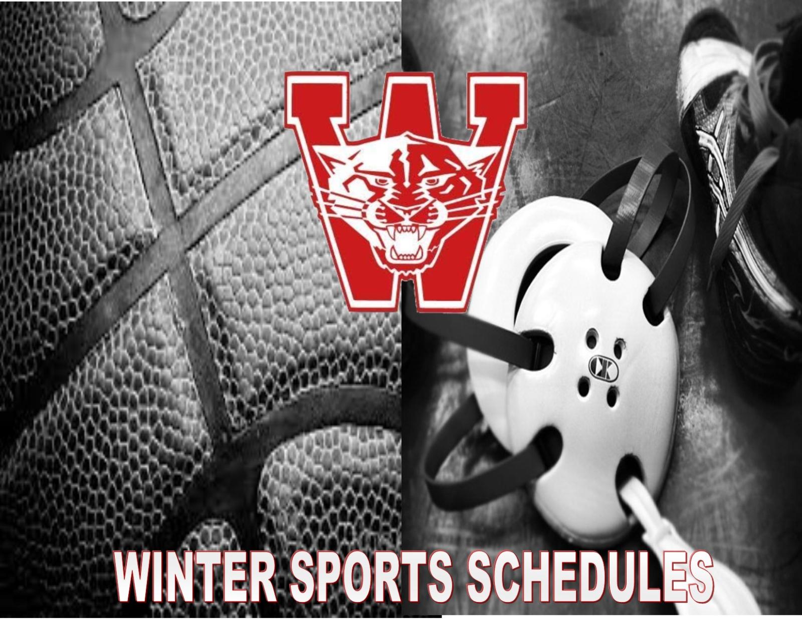 2019-2020 Winter Sport Schedules