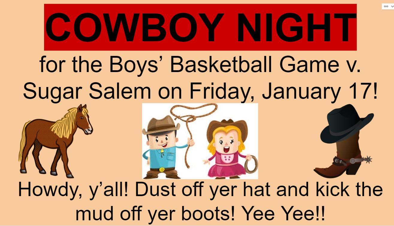 Cowboy Night!