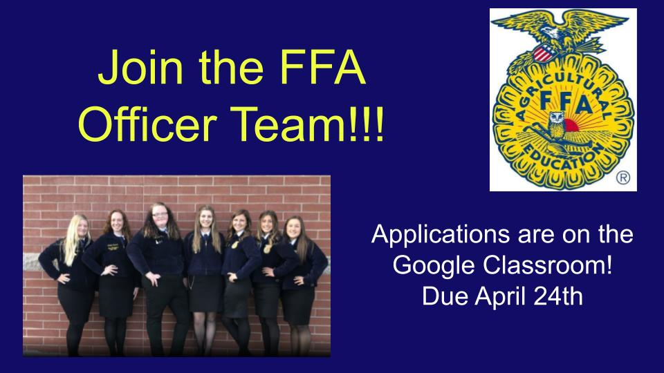 Join the FFA Officer Team