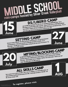 Volleyball 2018 Middle School Camps