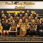 Pioneer Lady Panthers – 2018 IHSAA Softball Class A State Champions