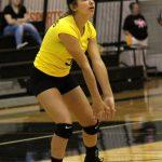 #31 Kylie Farris Shows Her Defensive Prowess in the Back Row Versus Northwestern at Pioneer Junior-Senior High School