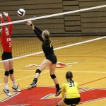 #27 Kennedy Corn Strives to Make a Kill from Her Middle Hitter Position at Knox Community High School