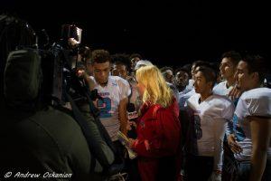 El Cajon Valley High School Vs. Clairemont High School football game