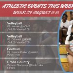 Athletics Events for the Week (August 19-24, 2019)