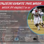Athletic Events For the Week (August 26 – 30, 2019)