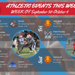 ECV Athletic Events This Week (September 30th – October 4th)