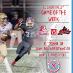 ECV Game of the Week: Football v. Mount Miguel (Friday, October 18, 2019 @ Priest Field)