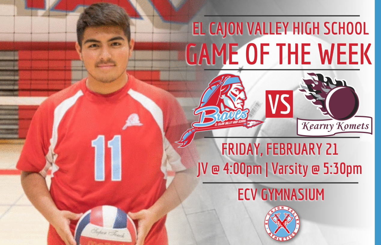 ECV Game of the Week – Boys Volleyball v. Kearny (Friday, February 21, 2020)