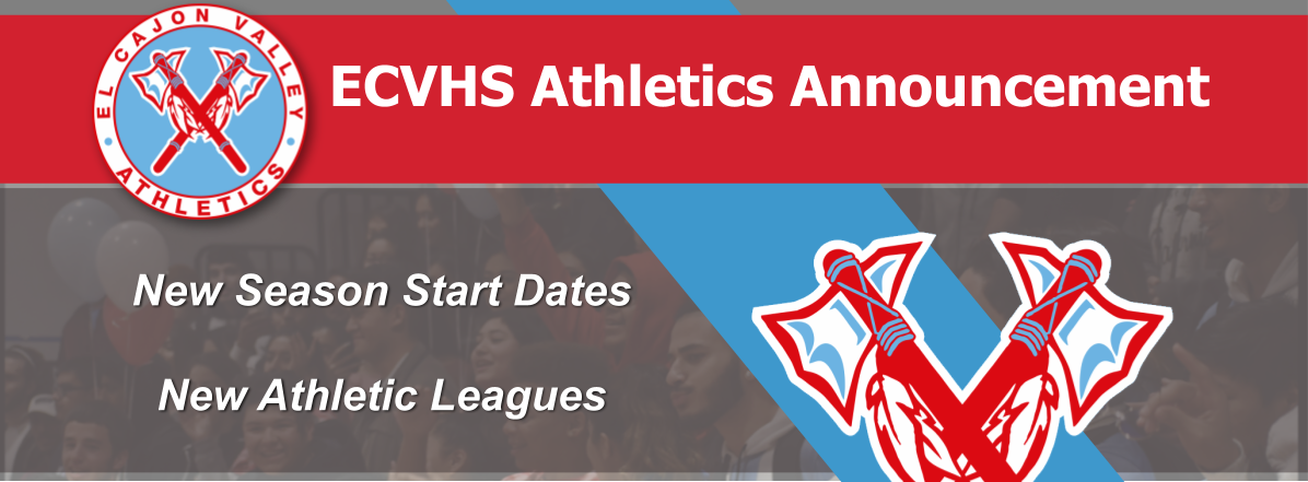 ECVHS Athletics Update – 9/1/20