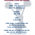 Competition Cheer – Tryout Information and Packet