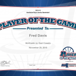 Player of the Game – Fred Davis