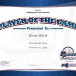 Player of the Game – Shae Ward