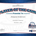 Player of the Game – Jhaquez Anderson