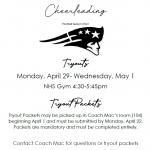 Sideline Cheerleading Information and Tryout Packet