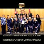 Poms Team Honored by Weld County