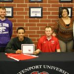 Track & Field Runner Signs with Davenport