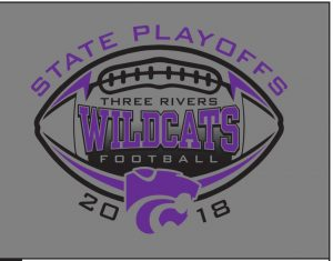 80670cc9 2018 Three Rivers Wildcats Football Playoff T-Shirts and Hoodies pre-sale  orders are taking place starting tomorrow (Oct. 11) in the High School  Athletic ...