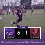 Girls Soccer: Three Rivers 6 Parchment 1