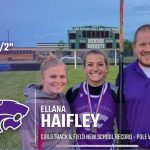 Track & Field: Haifley breaks school Pole Vault record, again.