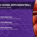 Middle School Boys Basketball: Tryouts set for Oct. 23 & 24