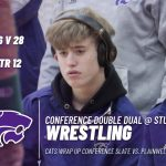 Wrestling: Cats split conference double dual