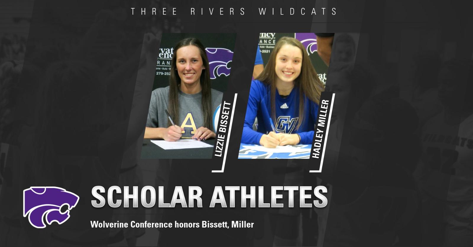 Bissett, Miller named Scholar-Athletes by the Wolverine Conference