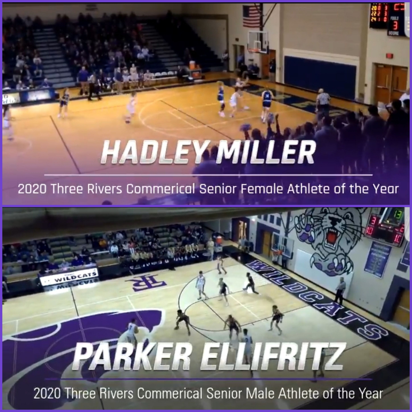 Senior Awards Announced – Ellifritz & Miller named Most Outstanding Athletes