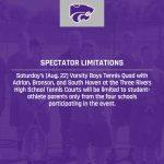 Boys Tennis: Spectator Limitations Announced for Saturday's Quad