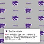 Athletics: Winter Sports Suspended Through Dec. 8