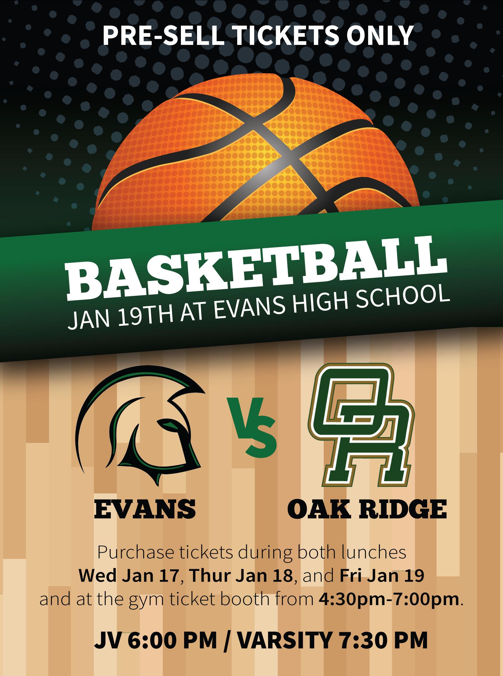Boys Basketball vs Oak Ridge Tickets