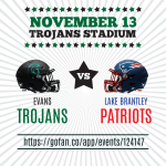 Tickets on Sale for November 13 Lake Brantley Football Game