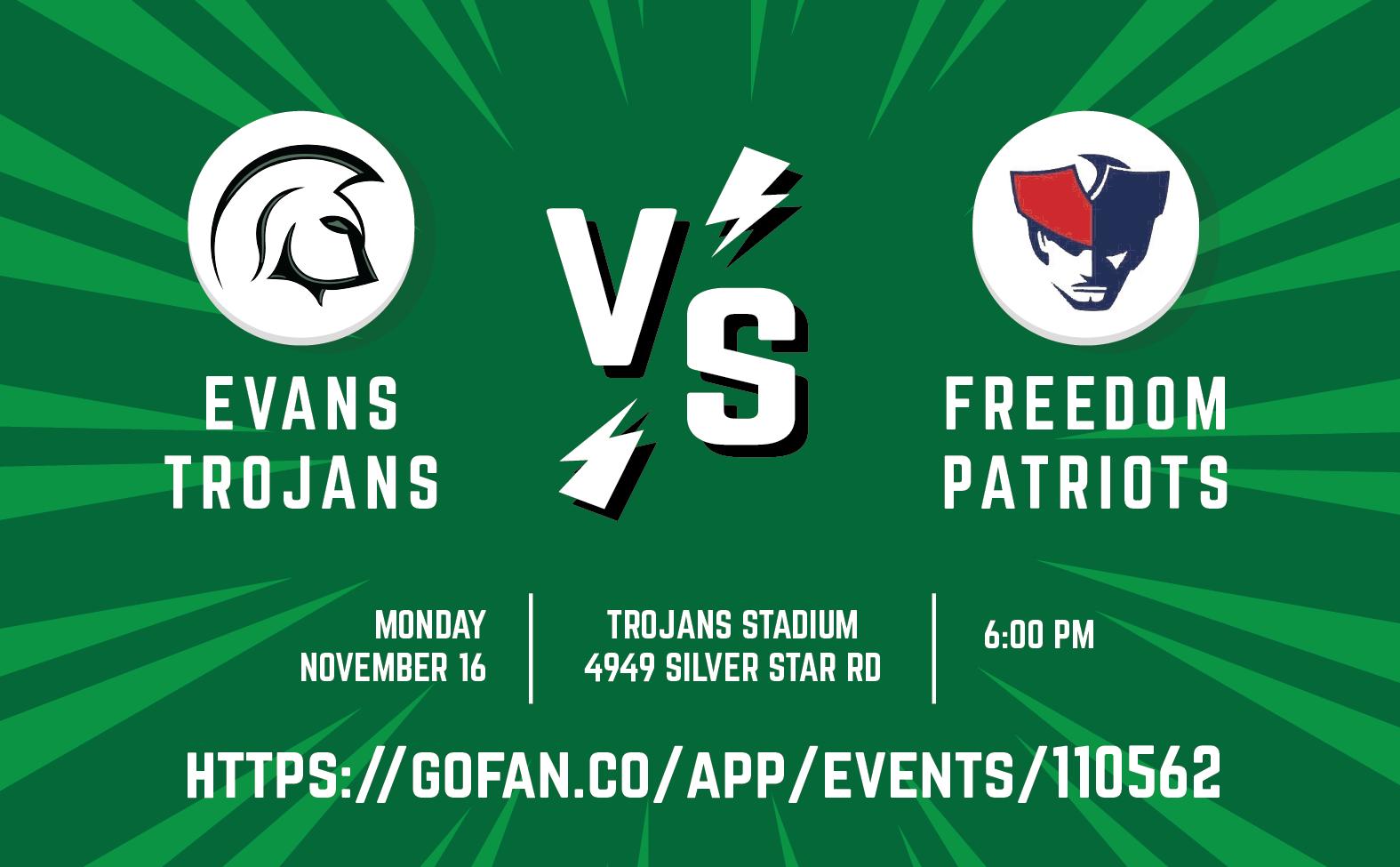 Tickets on Sale for November 16 Girls Soccer vs Freedom Game