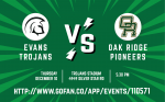 Tickets on Sale for December 10 Girls Soccer vs Oak Ridge