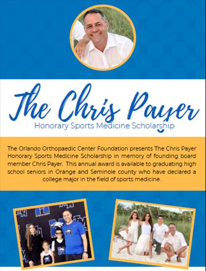 Chris Payer Honorary Sports Medicine Scholarship