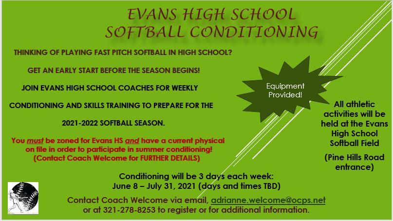 Summer Softball Conditioning & Training Opportunity