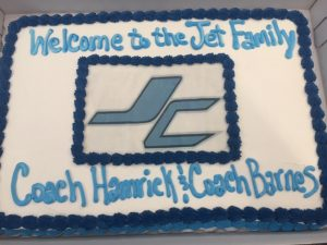 Welcoming for Coach Barnes and Hamrick