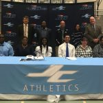 Samuels, Cortes Sign Track Scholarships