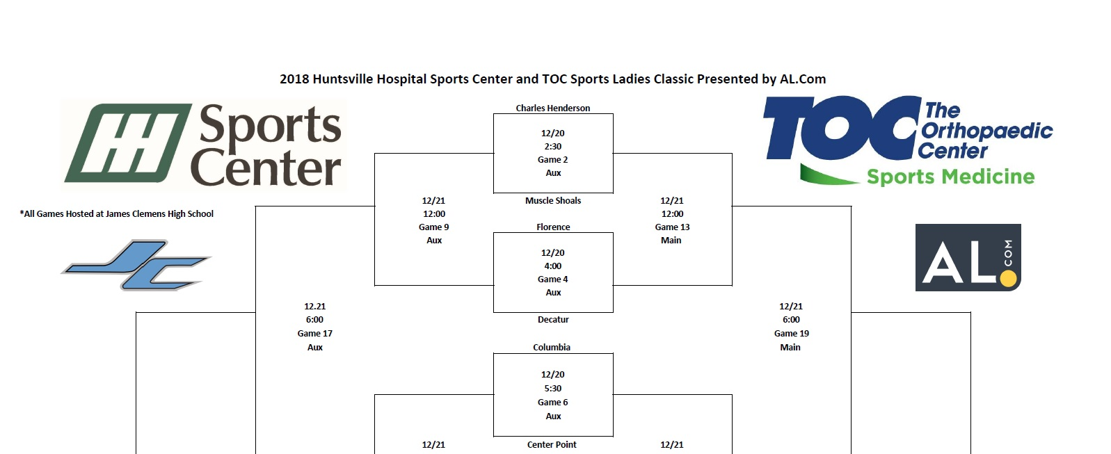 2018 Huntsville Hospital Sports Center and TOC Sports Ladies Classic