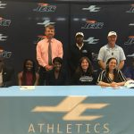 Cortes and Risher Sign Track Scholarships