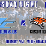 Thursday, Oct. 10th James Clemens at Grissom