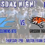 Thursday, Oct. 10th James Clemens at Grissom