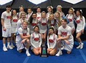 Macon County Cheerleaders at Nationals!