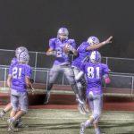 Football celebrating catch