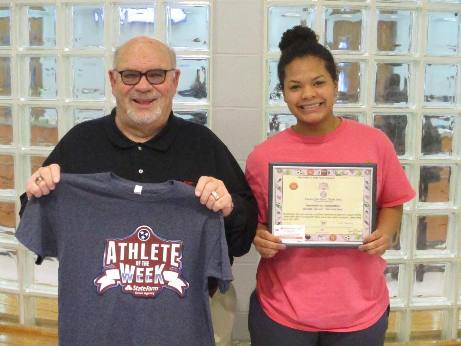 Lady Purple Tiger Athlete of the Week