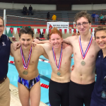 University High School Boys Varsity Swimming finishes 2nd place